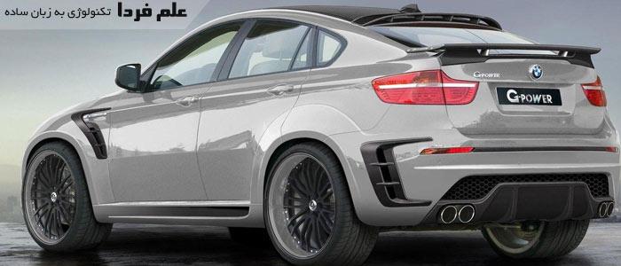 نمای پشت ماشین BMW X6 G-Power