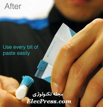راه آسان برای استفاده  خمیر دندان