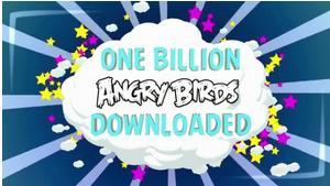 1 میلیارد دانلود پرندگان خشمگین