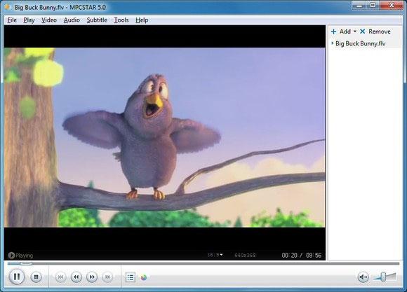 اسکرین شات MPCSTAR-5.0-player