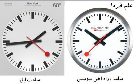 كپي برداري اپل از ساعت راه آهن سوييس