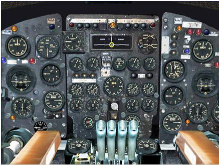 کابین خلبان هواپیما