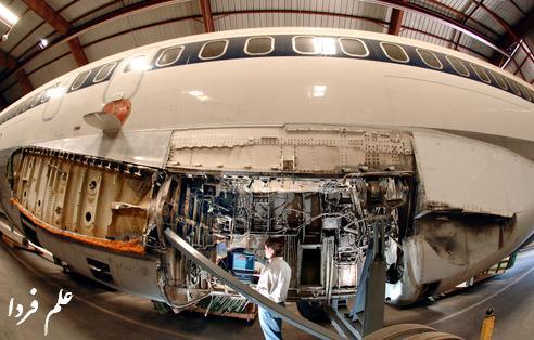 سیم کشی داخل هواپیما