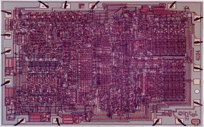 ترانزیستور ها روی اولین پردازنده اینتل
