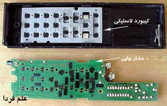 کیبورد لاستیکی و مدار چاپی کنترل