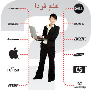 برند های مختلف لپ تاپ