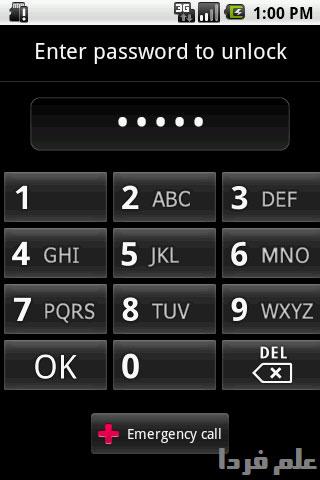 باز کردن قفل صفحه نمایش اندروید با استفاده از رمز عبور یا پسورد password
