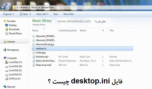 فایل desktop.ini در سیستم عامل ویندوز