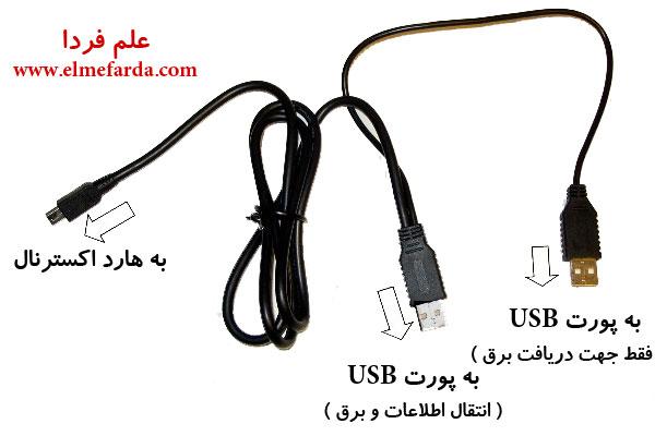 سیم USB هارد دیسک اکسترنال