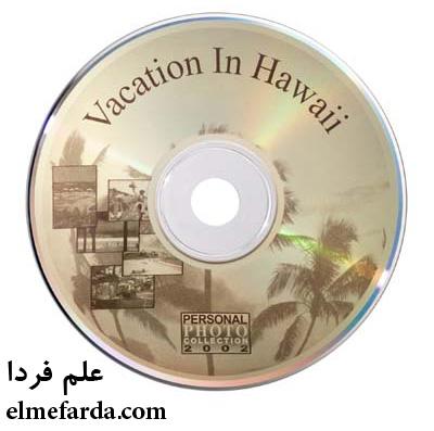 نمونه ای از چاپ روی سی دی با لایت اسکرایب