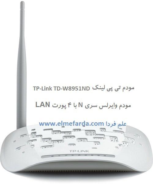 مودم TD-W8951ND - نمای جلو