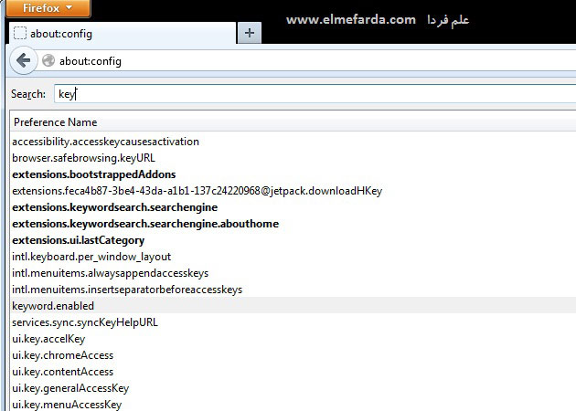 تغییر موتور جستجوی پیش فرض فایرفاکس - مرحله 2