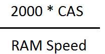فرمول محاسبه زمان پاسخ دهی RAM رم