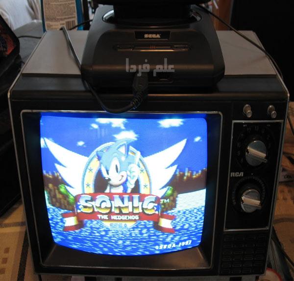 کنسول بازی سگا در تلویزیون CRT