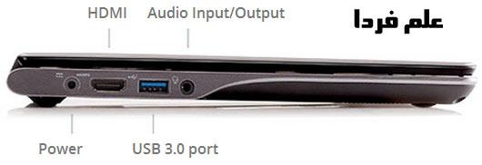 پورت های ChromeBook C720 ایسر