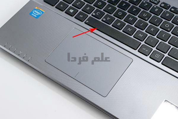 کلید space bar روی کیبورد لپ تاپ
