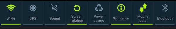 فعال کردن وای فای اندروید از نوار اعلانات اندروید notification bar