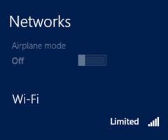 مشکل وای فای limited یا محدود در ویندوز 8