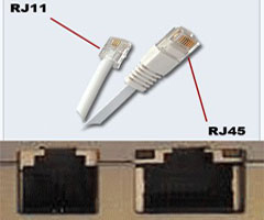 مقایسه کابل تلفن یا RJ11 با کابل LAN یا RJ45
