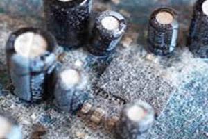 گرد و خاک قطعات الکترونیکی
