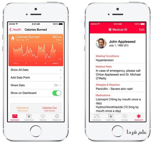 نرم افزار Health در iOS 8