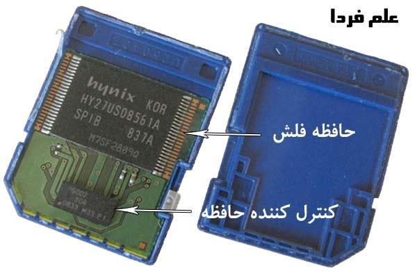 اجزای داخلی حافظه SD