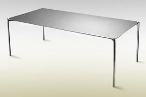 طراحی میز کار فوق العاده سبک و باریک