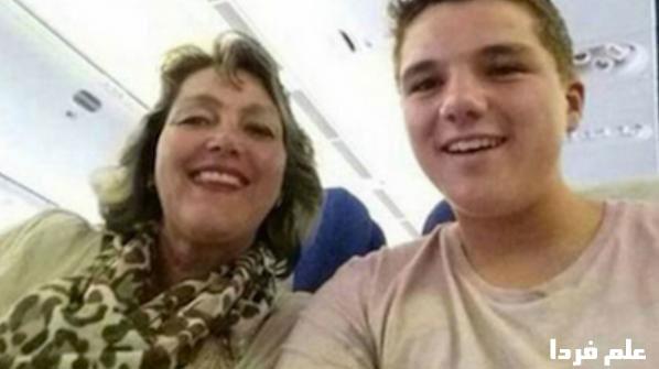 عکس سلفی Gary Slok با مادرش پیش از سقوط هواپیما