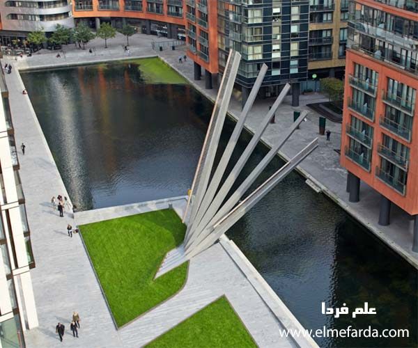 پل هیدرولیکی لندن - حالت باز شده