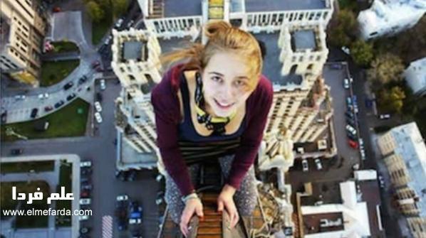 Xenia Ignatyeva در اتفاع ۲۸ فوتی
