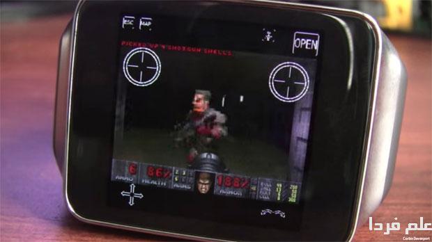 اجرای بازی Doom در ساعت هوشمند اندرویدی Gear Live