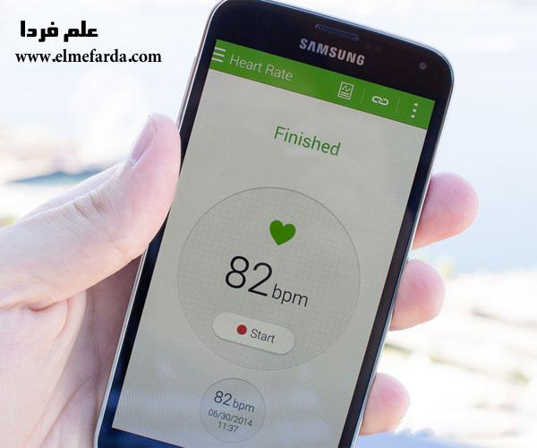 تشخیص ضربان قلب توسط گلکسی اس 5
