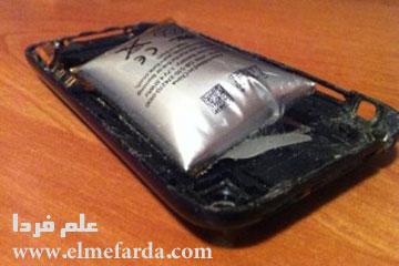 بادکردن باتری به خاطر شارژ طولانی