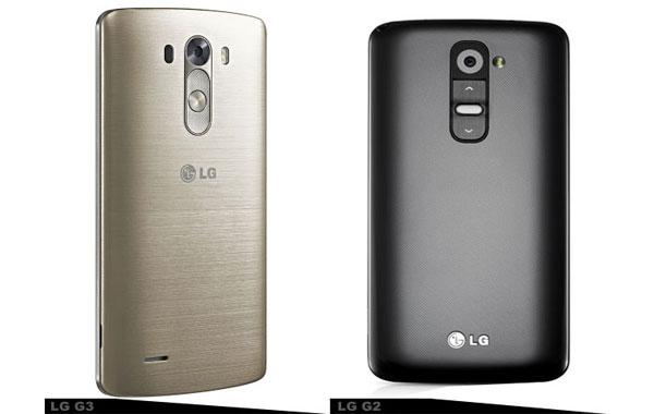 مقایسه گشی LG G3 و G2 - طراحی