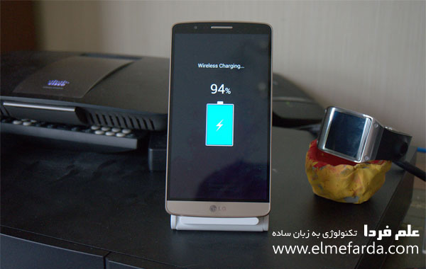 مقایسه گوشی LG G3 و G2 - شارژ وایرلس LG G3