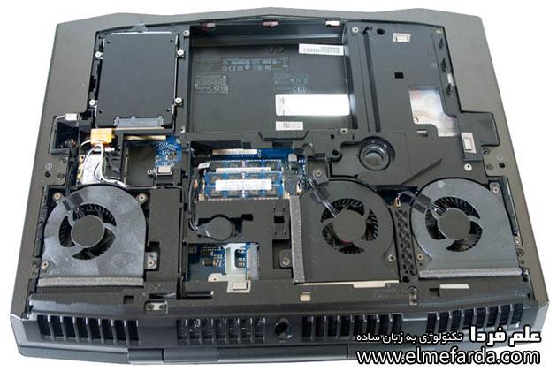 سیستم خنک کننده لپ تاپ مخصوص بازی alienware m18