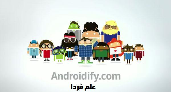 کرکتر های ساخته شده با برنامه Androidify