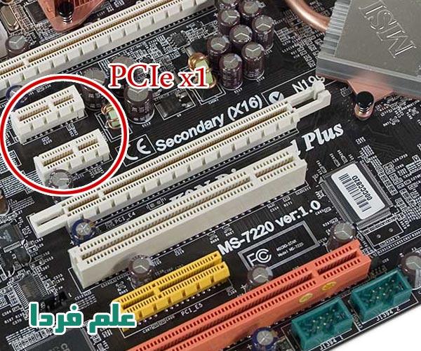 اسلات PCIe x1 روی مادربورد