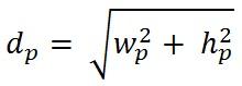 فرمول محاسبه تراکم پیکسلی یا ppi