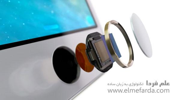 اجزای تاچ آیدی - دکمه Home آیفون 6