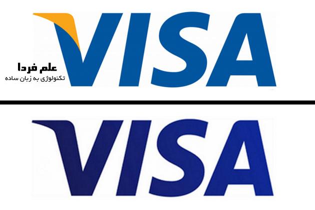 لوگوی ویزا VIZA جدید - 2014