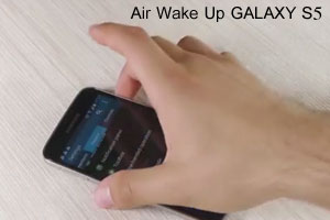 روشن کردن نمایشگر گلکسی اس 5 با Air wake up