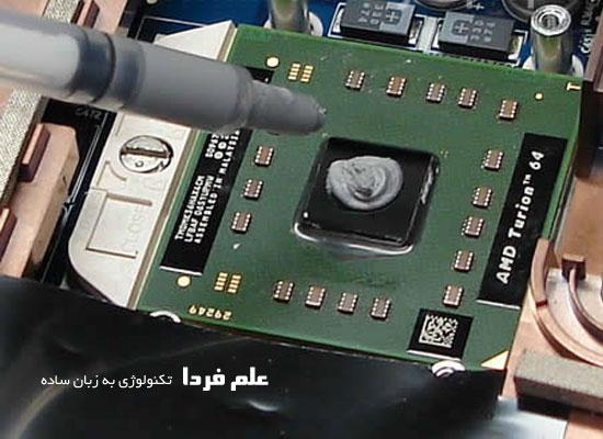 گذاشتن خمیر سیلیکون روی چیپ گرافیک و یا CPU لپ تاپ