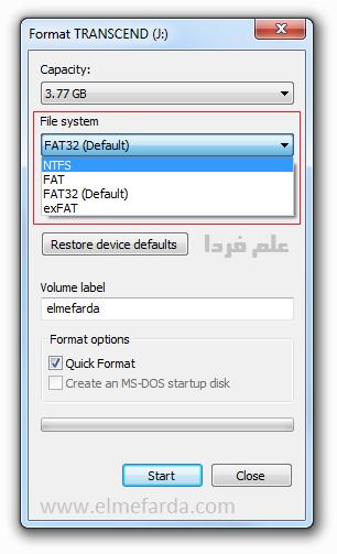فرمت NTFS - رفع مشکل کپی نشدن فایل های 4 گیگی