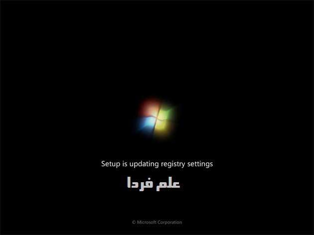 نصب ویندوز ۷ - مرحله 9 - ویندوز در حالا برزورسانی