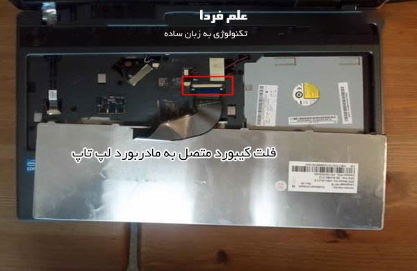 فلت کیبورد لپ تاپ متصل به مادربورد
