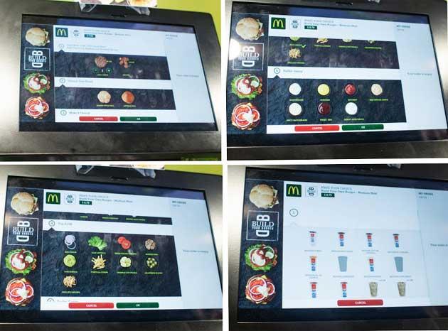 نمایی از برنامه Choose your taste - برنامه سفارش برگر مک دونالد