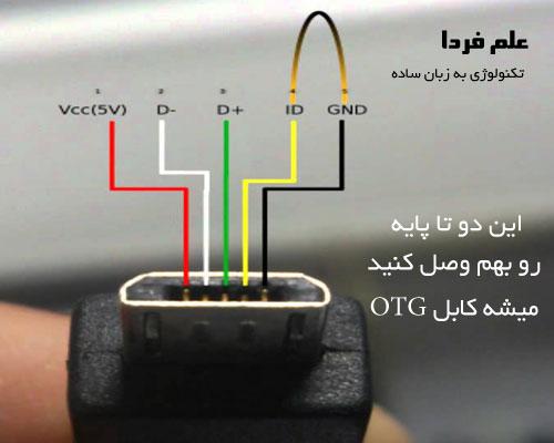ساختن کابل OTG