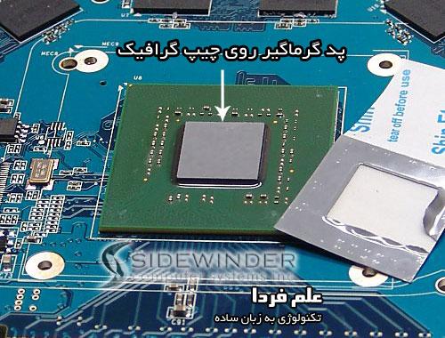 تعویض خمیر سیلیکون لپ تاپ - پد گرماگیر