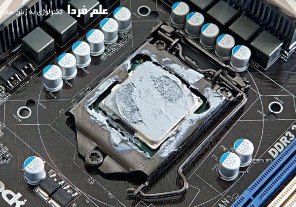 خمیر سیلیکون روی CPU